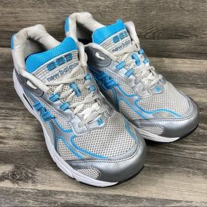 New Balance 883 Absorb White & Blue Running Shoes